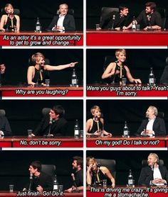 """""""This is driving me crazy. It's giving me a stomachache."""" Only you, Jennifer, can pull off something like that."""