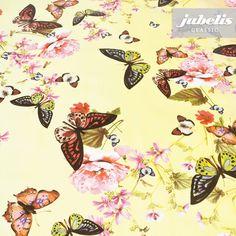 jubelis® Wachstuchbelag Aimee mit Schmetterlingen bunt