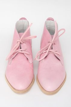Blush Pink Leather Benni Boot