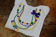 Throw me something mister... Personalized custom Monogrammed Mardi Gras Baby bodysuit, infant gown, or kids shirt