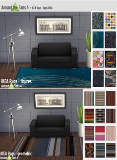 by Around the Sims 4 - Ikea Rugs | Tapis Rugs