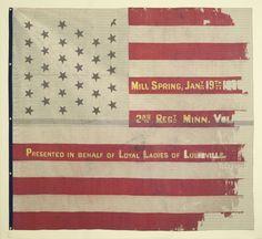 National battle flag of the 2nd Minnesota Volunteer Infantry Regiment