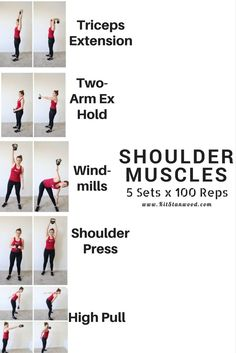 shoulder muscles workout with kettlebell