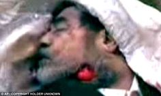 SADDAM HUSSEIN, former leader of Irak was executed December 30, 2006 by hanging.  http://i.dailymail.co.uk/i/pix/2011/10/21/article-2051552-0E76657600000578-228_634x379.jpg