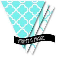 Printable 'Breakfast at Tiffany's' Tiffany boutique & stripe party Bunting - Style My Party www.stylemyparty.co.uk