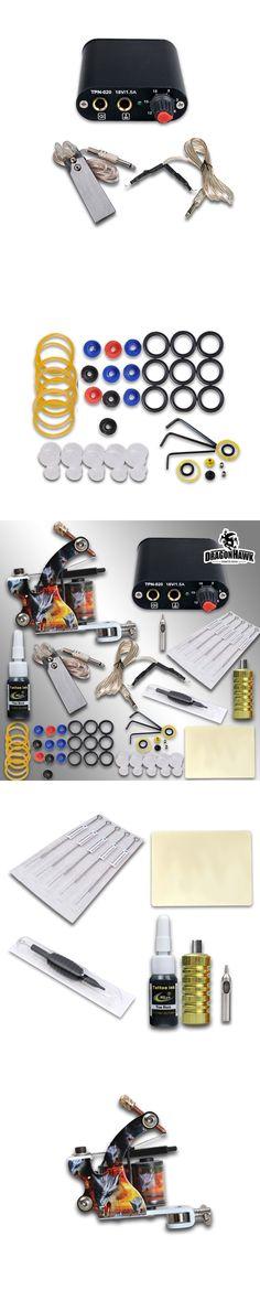 Beginner Complete Tattoo Kit Machine Guns Inks Needles Tattoo Power Supply  MGT-18GD-3