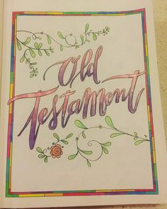 Title page 2 Beautiful Word Bible, Matthew Bible, Old And New Testament, Title Page, Colouring, Journaling, Bullet Journal, Words, Instagram Posts