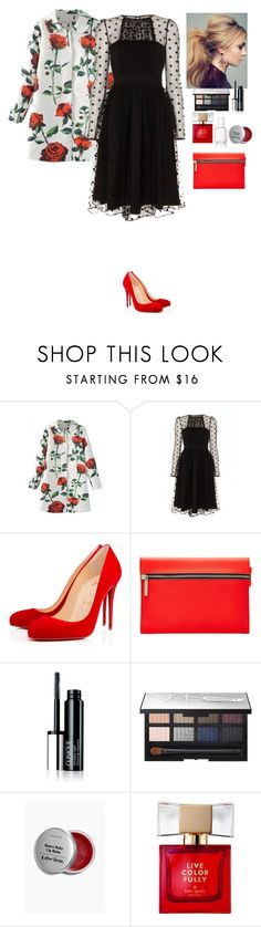 """Outfit Beautifulhalo"" by eliza-redkina ❤ liked on Polyvore featuring Christian Louboutin, Victoria Beckham, NARS Cosmetics, Kate Spade and Essie"