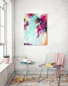 Original große Kunst abstrakte Malerei moderne Kunst Rosa