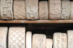 tools•PlumTreePottery Pottery Equipment, Clay Stamps, Handmade Stamps, Stamp Making, Clays, Tools And Equipment, Pottery Ideas, Pots, Building