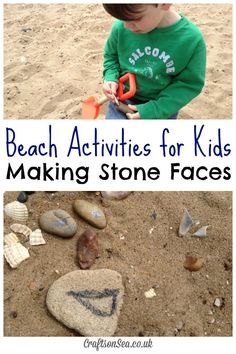 Beach Activities for Kids: Stone Faces - Crafts on Sea