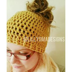 Hey, I found this really awesome Etsy listing at https://www.etsy.com/listing/483764692/messy-bun-beanie-ponytail-hat-crochet