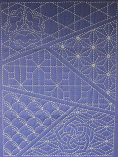 Japanese Embroidery Sashiko sampler of patterns Embroidery Techniques, Sewing Techniques, Embroidery Stitches, Embroidery Patterns, Quilt Patterns, Stitch Patterns, Embroidery Scissors, Embroidery Art, Machine Embroidery