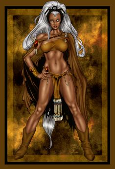 Michael Bair's Storm the Savageland. Such a beautiful and strong piece. Had to color her. Link to original: Artwork: Colors: me *posted with permission