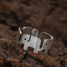 Dancing Elephants Fashion Band Ring - Priced to Love - 1