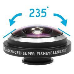 Orbmart Universal Clip 235 Degree Super Fish Eye Camera Fisheye For Apple iPhone 6 Plus 5S 5C 5 4S Samsung Mobile Phone Lenses