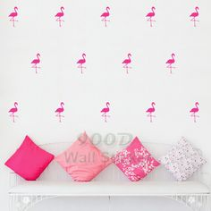 Aliexpress.com : Buy Cartoon Flamingo Wall Stickers Wall Decals, Removable Child Room decoration art Wall Decors Free Shipping DQ621 17 from Reliable wall decor animal suppliers on 900D  | Alibaba Group