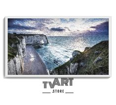 Samsung TV Frame Art Digital Download 4K Frame Tv Art Painting Ocean Cliffs Digital Artwork #samsungframetvart #samsungframetv #frametvart #theframetv #samsungtv #artframetv #frametv #samsungtvframe #samsungarttv #tvframeart #samsungtvart #framearttv
