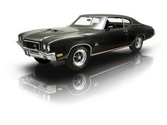 1972 Black on Black Buick GS455 Stage 1 V8 Muscle Car. Sold by RK Motors Charlotte.