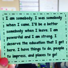 Coming back from winter back in January, I knew I needed something to start off… 2nd Grade Teacher, 4th Grade Classroom, Music Classroom, Future Classroom, Classroom Ideas, Special Education Behavior, Music Education, Rita Pierson, Class Motto