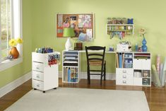 Look at these great pictures of inspirational craft rooms I found at Michaels.com. I have a few of these cubes, but they never quite look like the ones on Micheals website. A girl can dream, right?!?!       Source:  All pictures from Michaels.com
