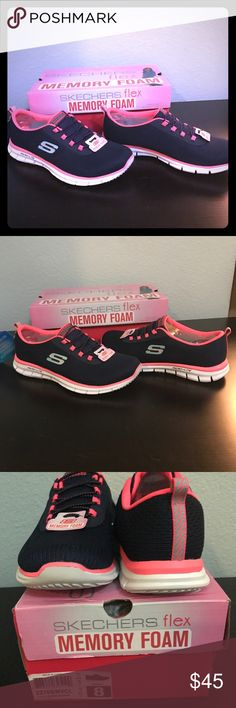 New Skechers Flex Memory Foam Slip Ons 8 Brand new in the box never worn  Skechers Glider Game Maker Memory Foam Slip Ons One of the most comfortable and cute slip ons I have ever worn  Women's US size 8 Skechers Shoes Sneakers