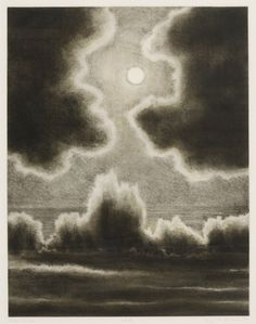 "les-sources-du-nil:  April Gornik (b. 1953)  ""Moon and Sea"", 1991"