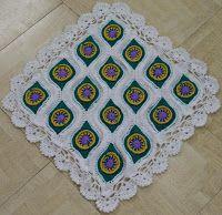 Sweet Nothings Crochet: MY PEACOCK BLANKET--Ormament Throw motif done in lapghan or baby blanket size
