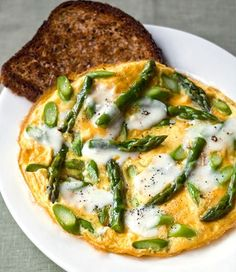 Lazy Asparagus Omelette recipe by Curtis Stone | In Season | Food | MiNDFOOD