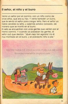 Elementary school text books (Mexico)  El señor, el niño y el burro