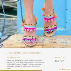 Greek Sandals, Gladiator Sandals, Leather Sandals, Shoes Sandals, Heels, Sandals Montego Bay, Pom Pom Sandals, Handmade Jewelry, Unique Jewelry