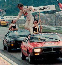 Gilles Villeneuve, Ferrari, (finished San Marino GP, Ímola, -- Safety_First Classic Motors, Classic Cars, Vintage Racing, Vintage Cars, Gilles Villeneuve, Ferrari F1, Rally Car, Car And Driver, Formula One