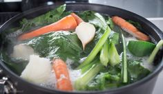 Bone broth simmering away at www.wellnourished.com.au
