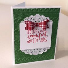 Casing the Catty: Stampin' Up! Cable Knit Dynamic TIEF, Christmas Pines