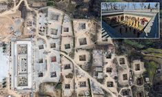 The series of subterranean dwellings amount to nearly 10,000 homes in Sanmenxia city, Henan province, central China. The courtyard homes are currently under strict government conservation.