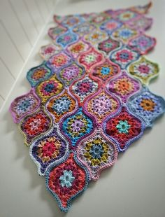 Ravelry: Project Gallery for Mystical Lanterns Shawl pattern by Jane Crowfoot