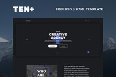 TEN+ Free PSD & HTML Template