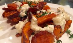 Bold, But Not Really Bold – Sweet Potato Wedges With Whipped Feta, Lemon And Black Pepper Dip