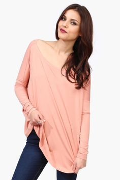 pale pink long sleeve soft tee jammies so soft, maybe too blowzy and get caught under when I roll ?~!