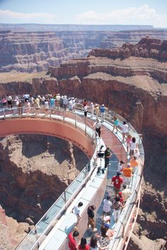 At the Grand canyon, Arizona you get a unique recipe for adventure - the first-ever cantilever-shaped glass walkway extending 70 feet from the western Grand Canyon's rim more than 4,000 feet above the Colorado River!!