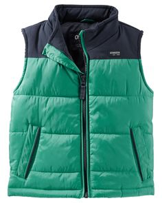 Baby Boy OshKosh Colorblock Puffer Vest from OshKosh B'gosh. Shop clothing & accessories from a trusted name in kids, toddlers, and baby clothes.