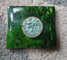Vintage Compact  Green by CaringHandsGlassArt on Etsy, $35.00