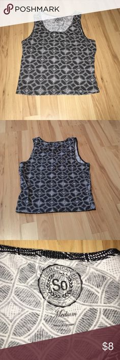 Cute Black and White Crop Top Cute crop top from kohls, brand is So, size medium SO Tops Crop Tops