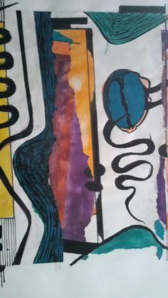 Collage - Tinta - Watercolor - De Rosalia M. Aba - Ros Maba -