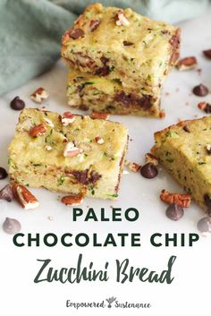 Looking for a paleo quick bread recipe? Look no further than this one bowl paleo chocolate chip zucchini bread recipe. Paleo recipes are gluten-free, grain-free, refined sugar free, and dairy free to reduce inflammation and improve wellbeing. #paleo Chocolate Chip Zucchini Bread, Paleo Chocolate Chips, Zucchini Bread Recipes, Quick Bread Recipes, Dairy Free Recipes, Chocolate Recipes, Paleo Recipes, Real Food Recipes, Baking Recipes