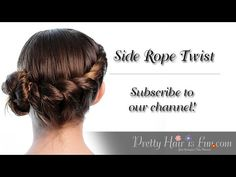 How to do a Side Rope Twist Hairstyle Tutorial Easy Updo Hairstyles, Great Hairstyles, Hairstyle Tutorials, Braid Tutorials, School Hairdos, Easy Hairstyles For School, Girl Hair Dos, Girl Short Hair, Cute Little Girl Hairstyles