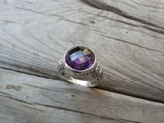 Beautiful deep purple amethyst handmade in sterling silver by Billyrebs on Etsy