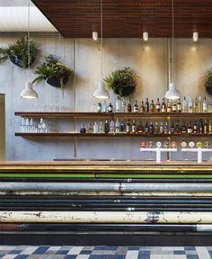 Dramatic Sculptural Space prahran hotel interior bar decor