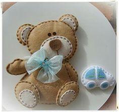 Felt teddy bear