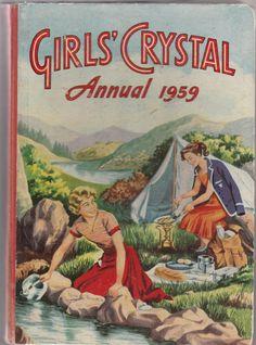 Girls' Crystal Annual 1959. Published in 1958. by Retrofanattic